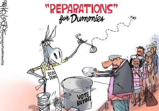 reparations for votes soup line democrats