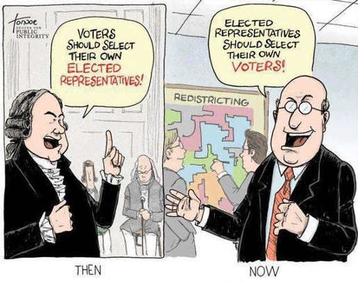 then voters select representatives now redistricting elected select own voters