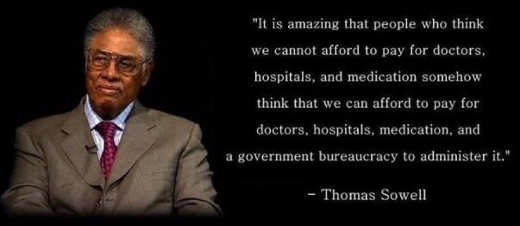 thomas sowell amazing people think can add government adminster to cost of health care