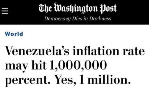 venezuela could hit million inflation rate post headline