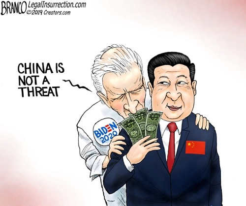 biden china is not a threat taking cash