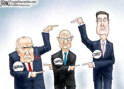brennan comey clapper pointing fingers at each other