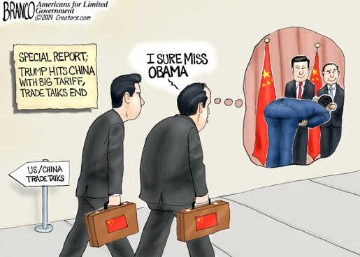 china i sure miss obama trade bowing