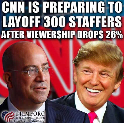cnn layoffs after fake news viewership drops 26 percent