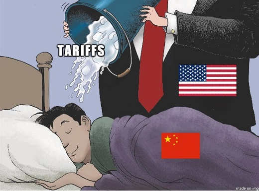 dumping tariffs on china wake up bucket of ice