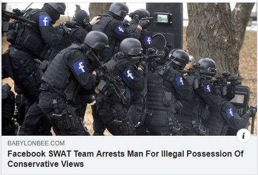 facebook swat team arrests man in possession of illegal conservative views