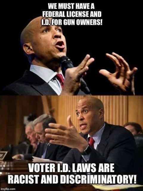 gun owners must get id voter id laws discriminatory cory booker