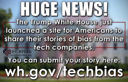 huge news trump white house launched tech bias website