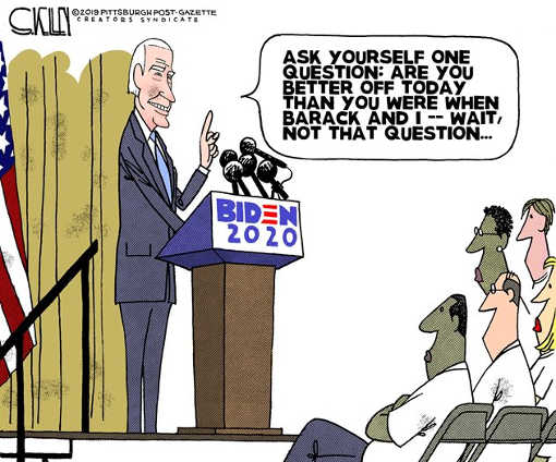 joe biden are you better off than when obama and i in charge next question