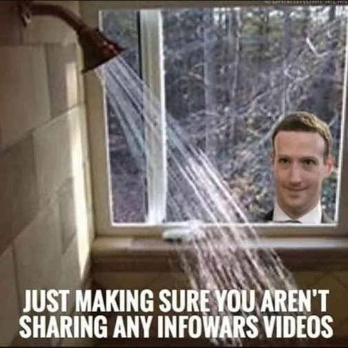 mark zuckerberg just making sure you arent sharing infowars videos