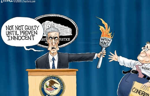 mueller not not guilty until proven innocent witch hunt torch passed to nadler