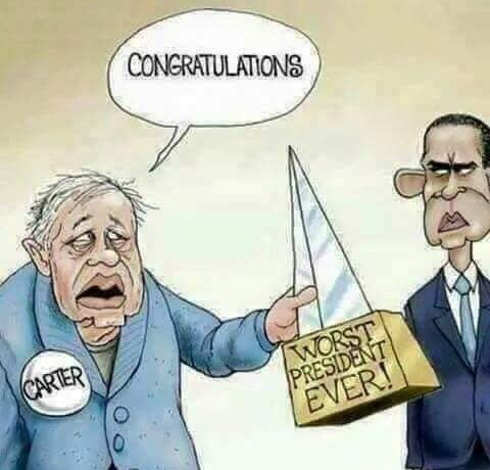 obama congratulations worst president ever carter passing on award