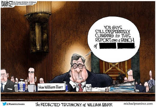 redacted barr testimony those clinging to mueller report are bleep blank