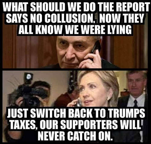 schumer what should we do report shows no russian collusion hillary switch to trump tax returns