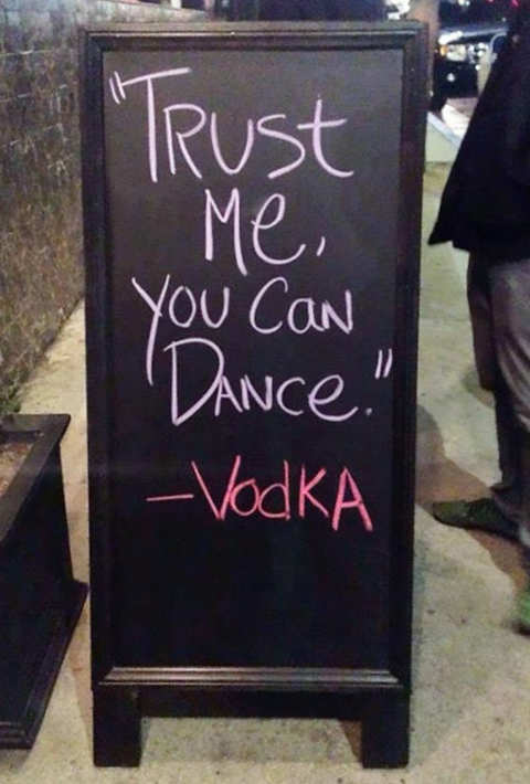 sign trust me you can dance vodka