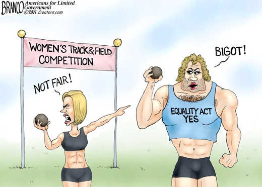 womens track and field competition biological males not fair bigot