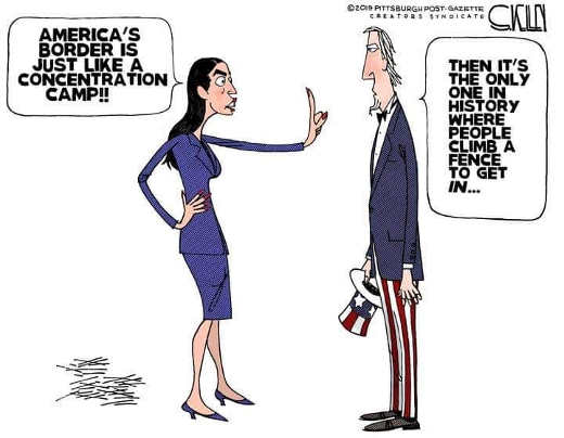 aoc americans border like concentration camps only ones people trying to climb into