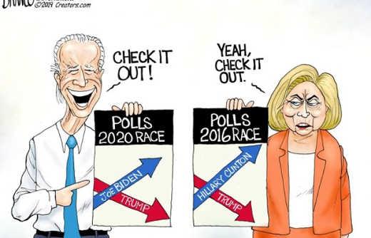 check it out biden trump polls 2020 2016 hillary vs donald