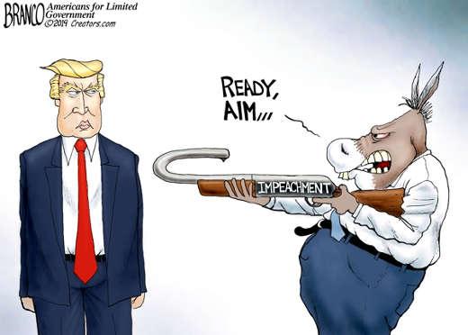 democrats ready aim impeachment rifle shoot self
