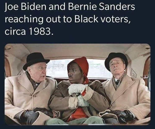 joe biden bernie sanders reaching out to black voters 1983 eddie murphy trading places
