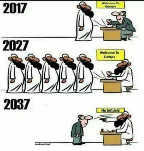 muslim europe taking over no infidels