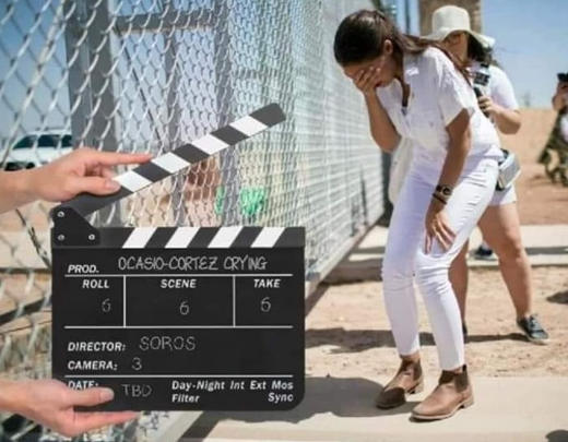 ocasio cortez crying immigration fence take 5 director george soros