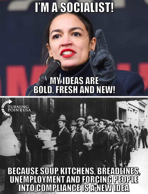 ocasio cortez im socialists my ideas are bold fresh soup kitches forcing people into compliance