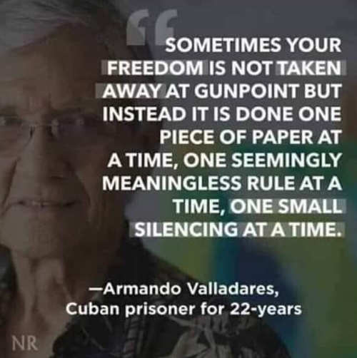 quote sometimes your freedom is not taken away at gunpoint one piece of paper at a time valladares cuban prisoner