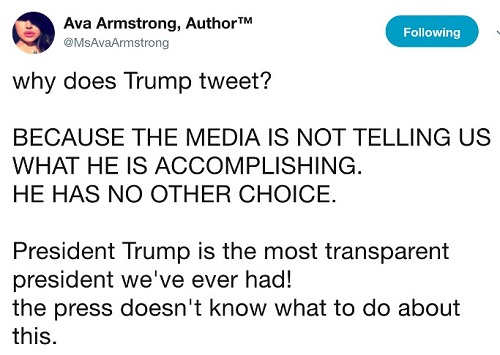 tweet why does trump because media wont talk about accomplishments