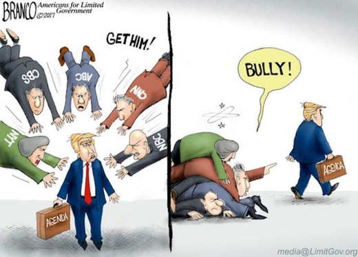 cnn nyt nbc cbs post msnbc attacking trump bully