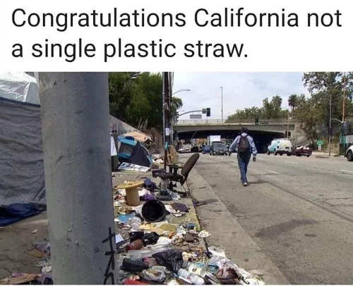 congratulations california not a single plastic straw garbage filled streets