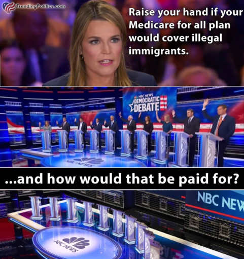 democrats medicare for all illegal immigrants how paid for