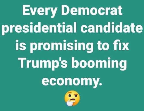 every democrat presidential candidate is promising to fix trumps booming economy