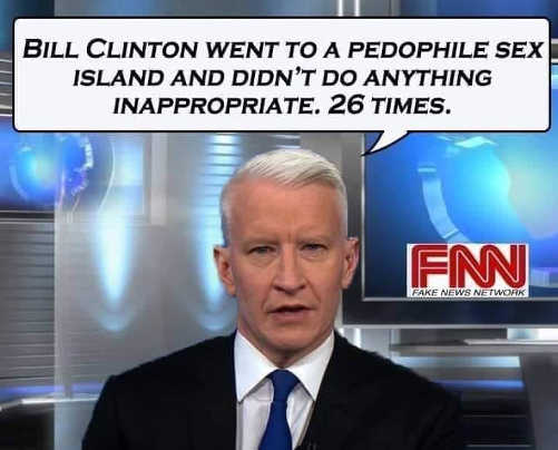 fake news cnn bill clinton went to pedophile island 26 times didnt do anything inappropriate