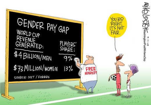 gender pay gap math men women not fair