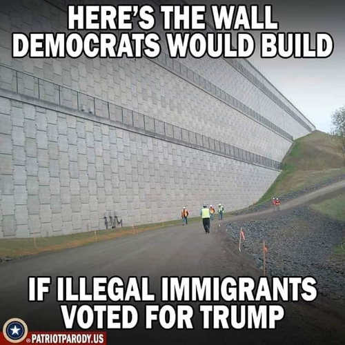heres wall democrats would build if illegal immigrants voted for trump