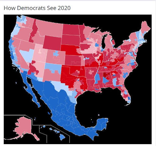 how democrats see 2020 us mexico map blue states