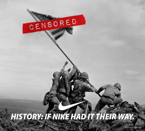 iwo jima censored if nike had it their way