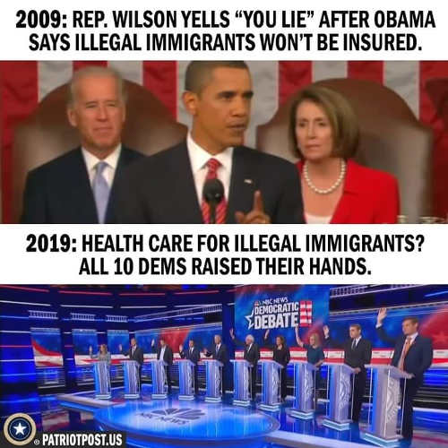 joe wilson says obama speech you lie about illegal immigrants insured all democrats raised hand