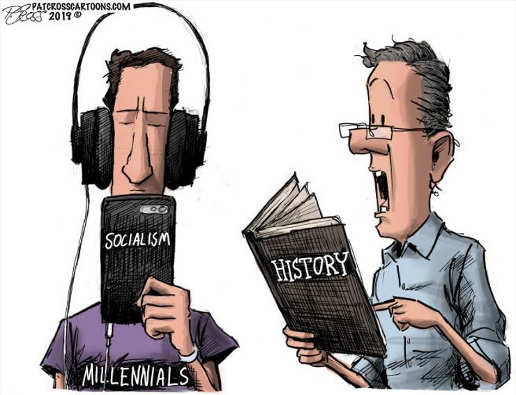 millenials ipad socialism trying to read history book to them