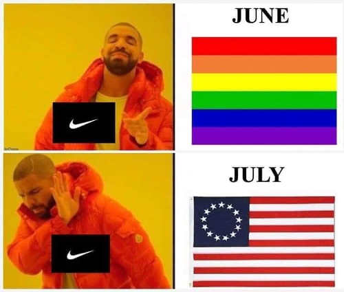 nike june gay pride flag july betsy ross flag no