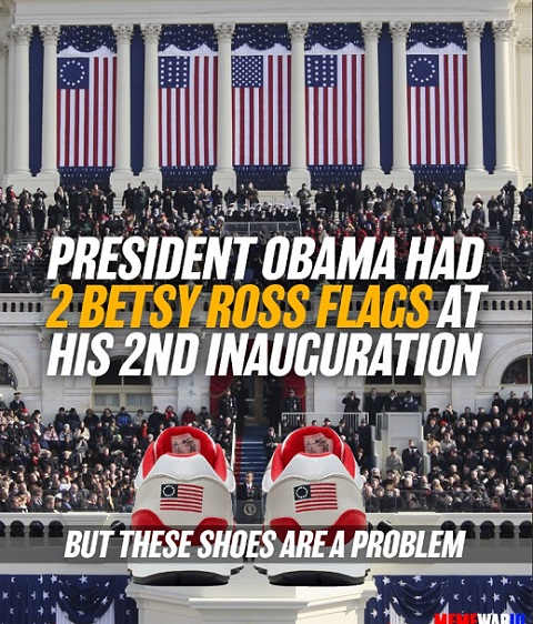 obama 2 betsy ross flags inauguration but these shoes are a problem