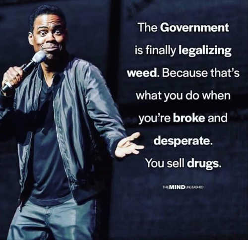 quote government finally legalizing weed because when youre broke you sell drugs