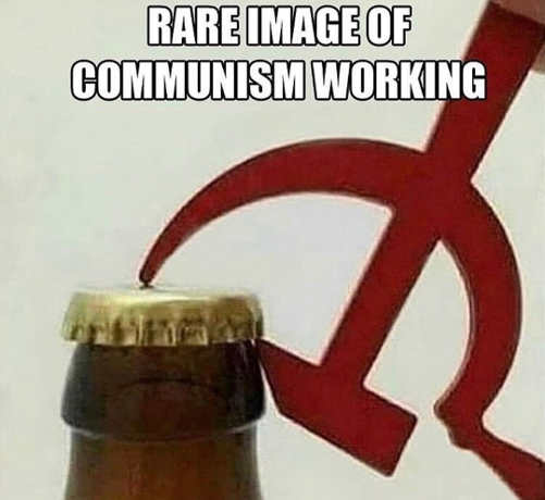 rare image of communism working