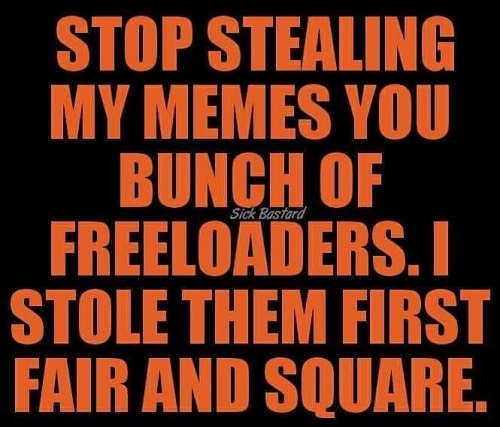 stop stealing memes i stoled them first fair and square