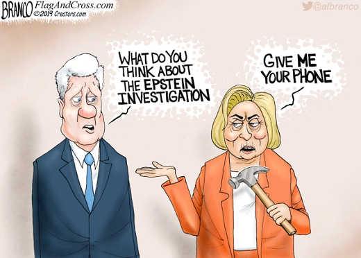 bill clinton what do you think about epstein investigation hillary give me your phone