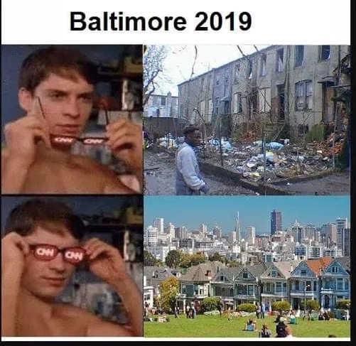 cnn glasses baltimore shithole to luxury