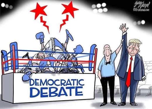 democratic debate winner donald trump