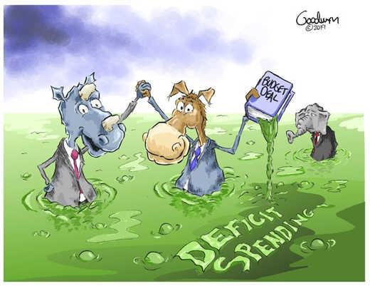 democrats republicans swamp deficit spending budget deal