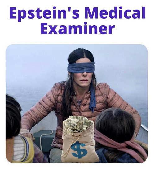 epstein medical examiner birdbox cash blind